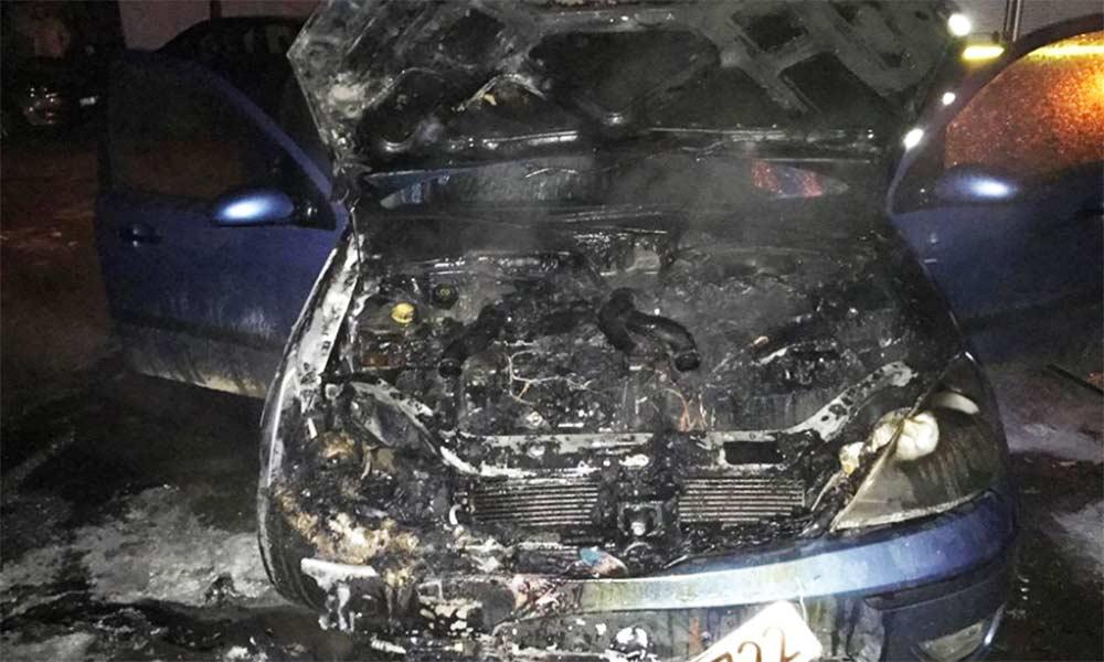 mașină în flăcări rădăuți