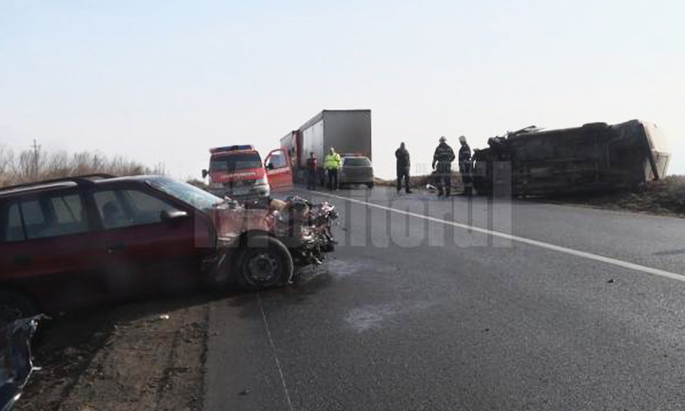 accidente pe E85 patrauti darmanesti